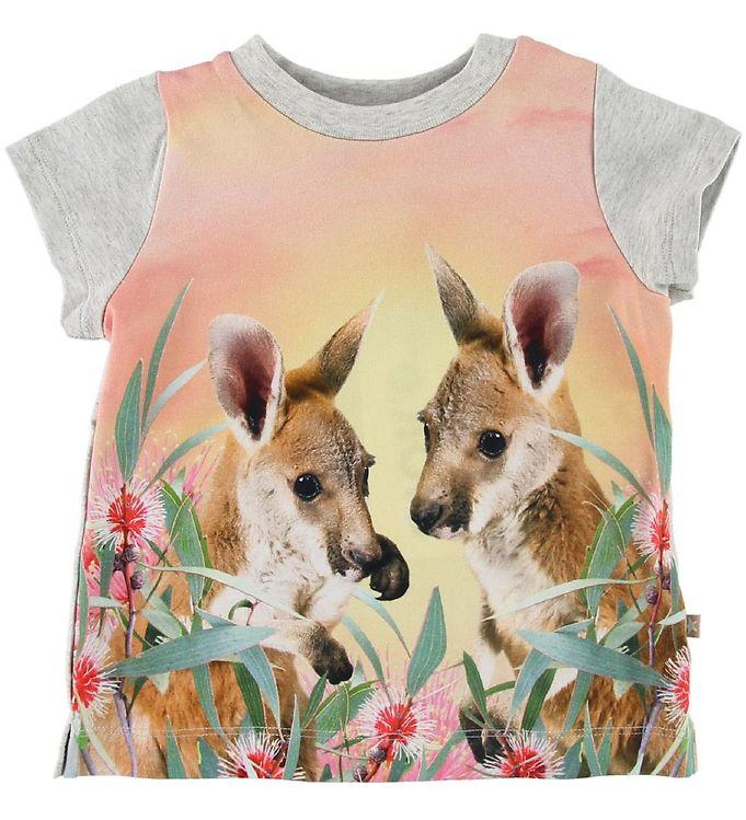 Image of Molo T-shirt - Elly - Cute Kangaroos (SJ686)