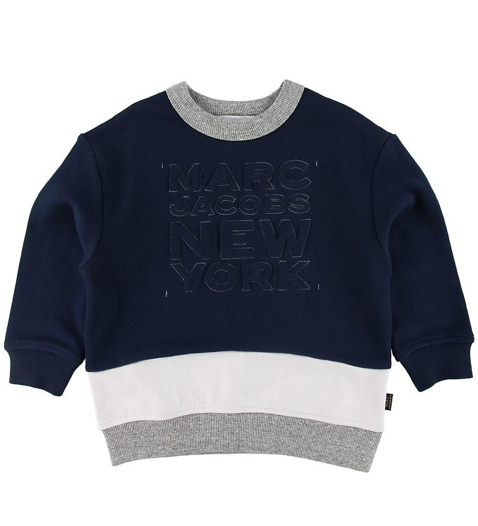 Image of Little Marc Jacobs Sweatshirt - Navy m. Tekst (SJ801)