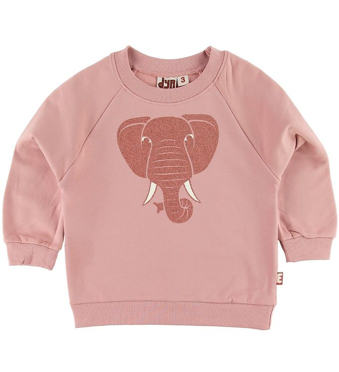 Image of DYR Sweatshirt - Bellow - Rose Glow m. Elefant/Glimmer (SJ944)