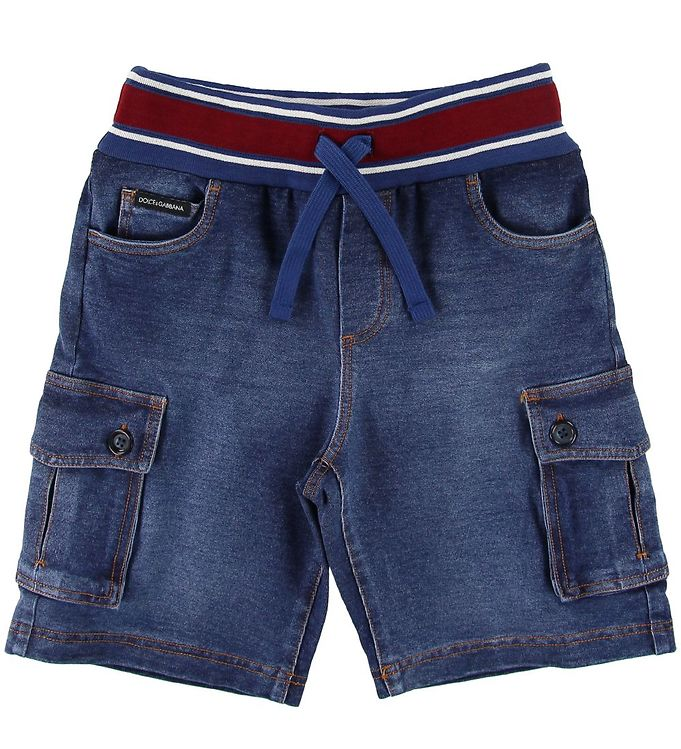 Image of Dolce & Gabbana Shorts - Blå Denim m. Rød (SJ952)