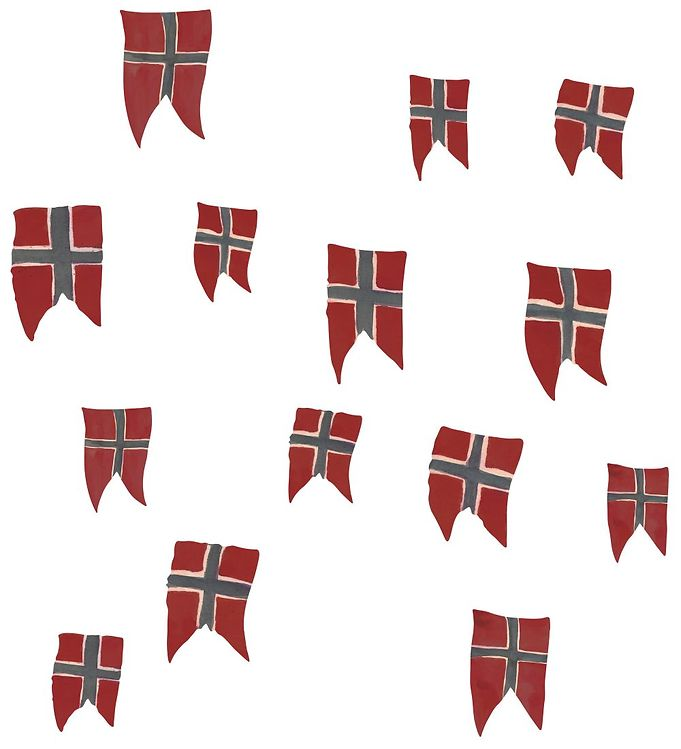 Image of Thats Mine Wallstickers - 14 stk - Norsk Flag (SK059)