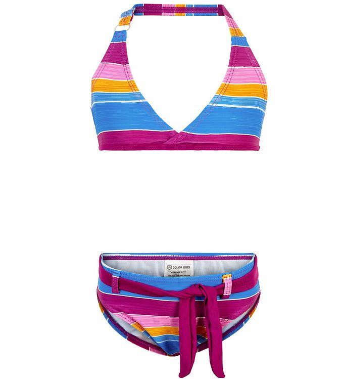 Image of Color Kids Bikini - Tippe - UV40+ - Berry m. Striber (SK292)