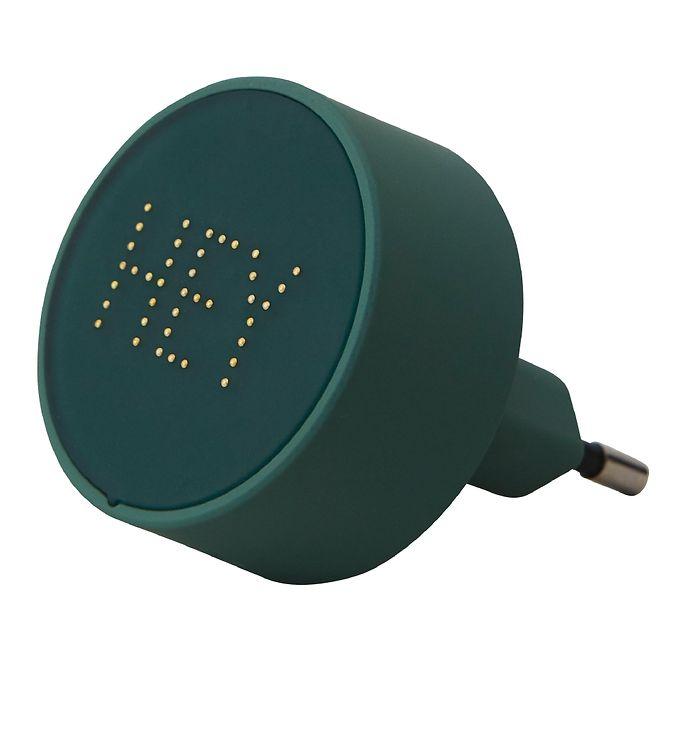 Image of Design Letters Adapter - 12W - Grøn/Hey m. Perler (SK426)