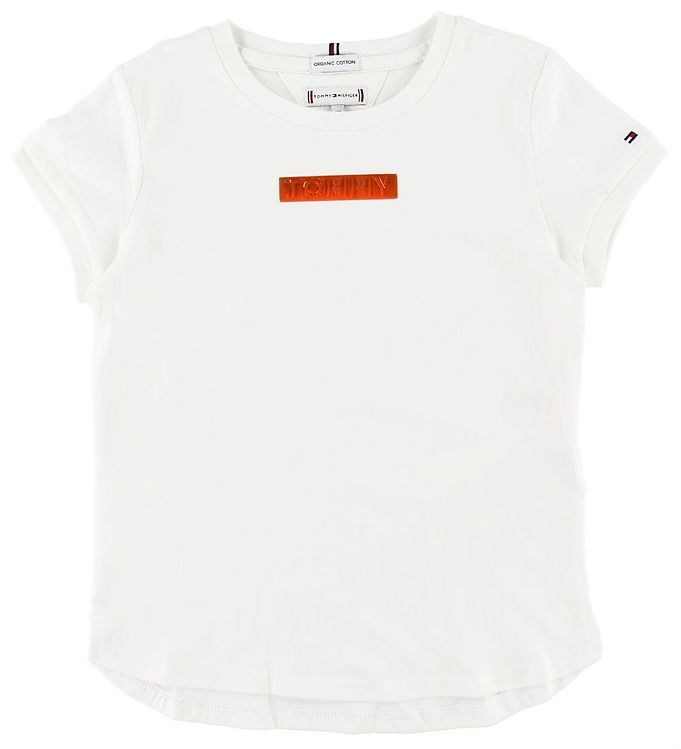 Image of Tommy Hilfiger T-shirt - Tommy Foil Label - Hvid (SK441)