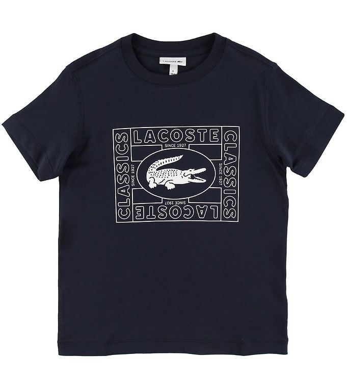 Lacoste T-shirt - Navy m. Logo