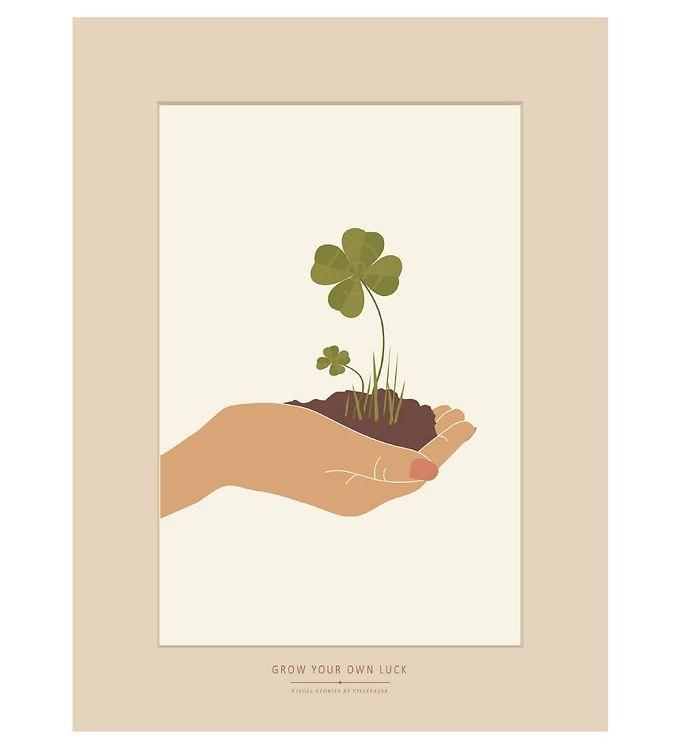 Image of Vissevasse Plakat - 30x40 - Grow Your Own Luck (SL022)