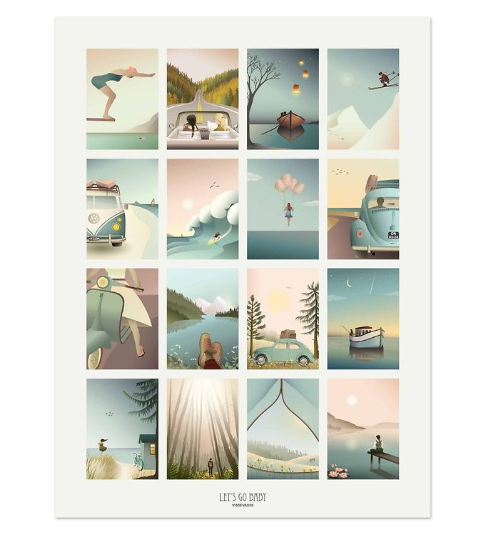 Image of Vissevasse Plakat - 30x40 - Let's Go Baby (SL025)
