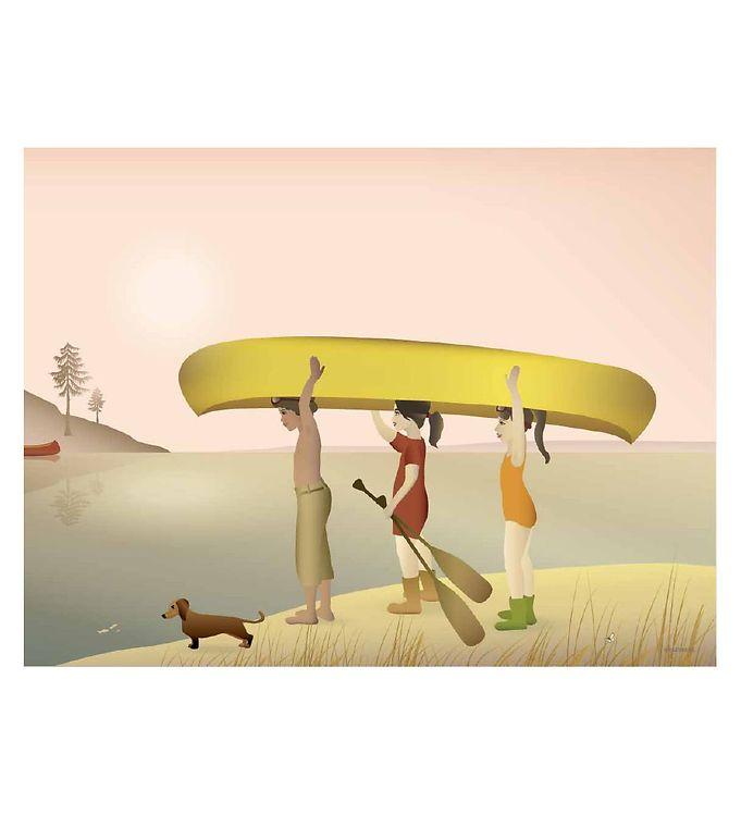 Image of Vissevasse Plakat - 30x40 - Canoe (SL027)