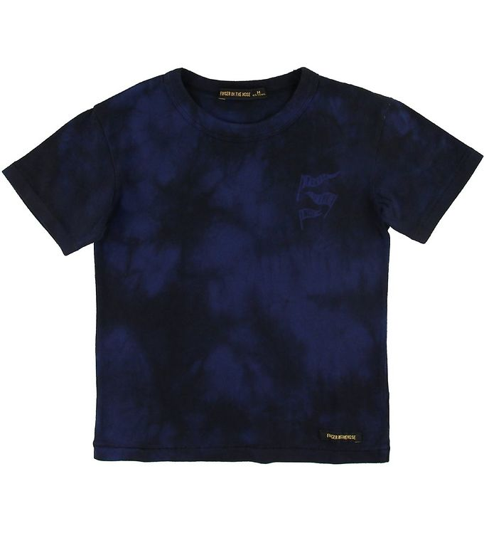 Image of Finger In The Nose T-shirt - Kid - Navy Tie & Dye (SL437)