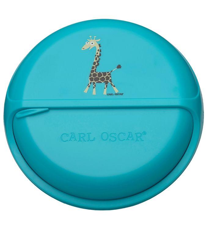 Image of Carl Oscar Snackboks - BentoDISC - 18 cm - Turquoise Giraffe (SL501)