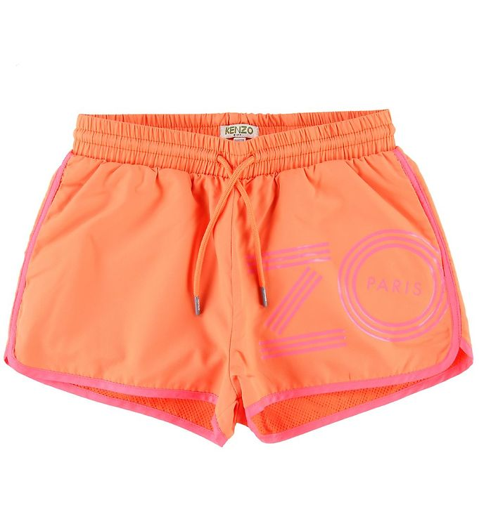 Kenzo Shorts - Sport Line Logo - Orange
