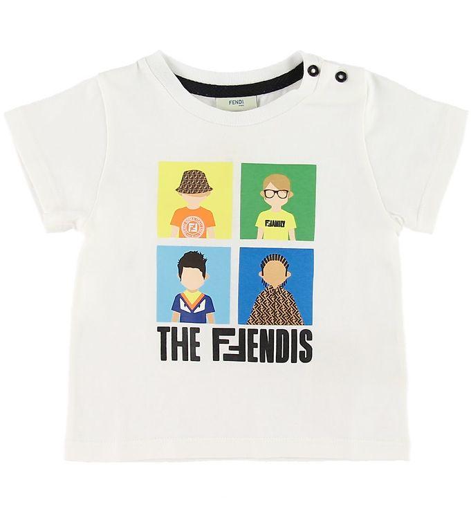Image of Fendi T-shirt - Hvid m. Fendi Family (SM412)