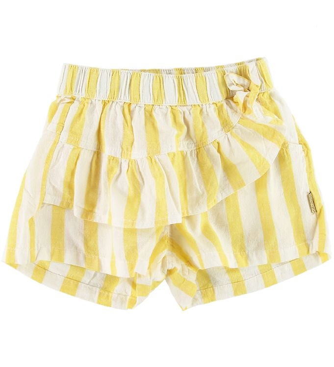 Image of Hust and Claire Shorts - Haley - Gul/Creme Stribet (SN195)