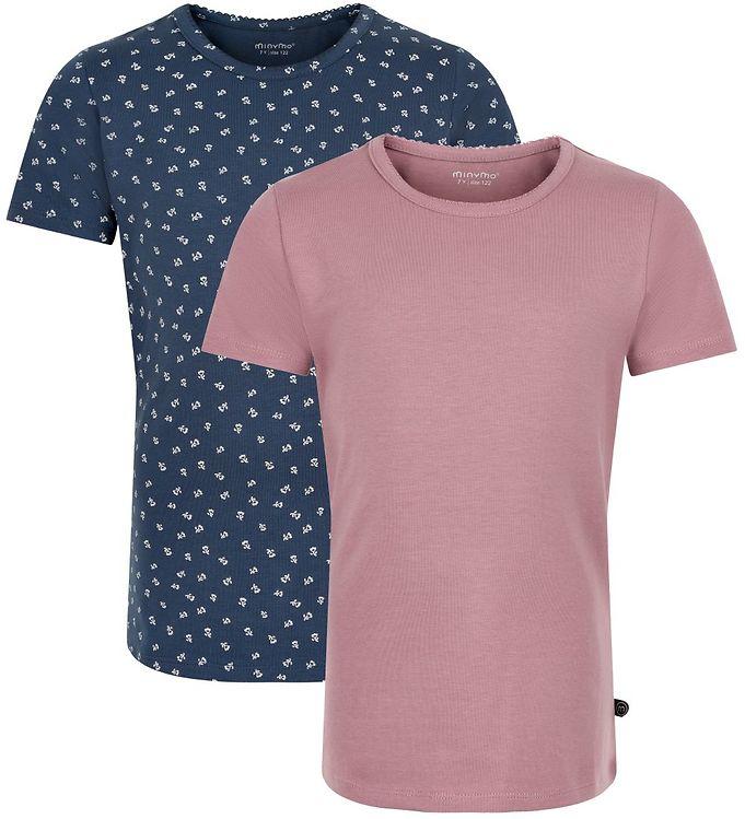 Image of Minymo T-shirts - 2-pak - Mesa Rose (SN246)