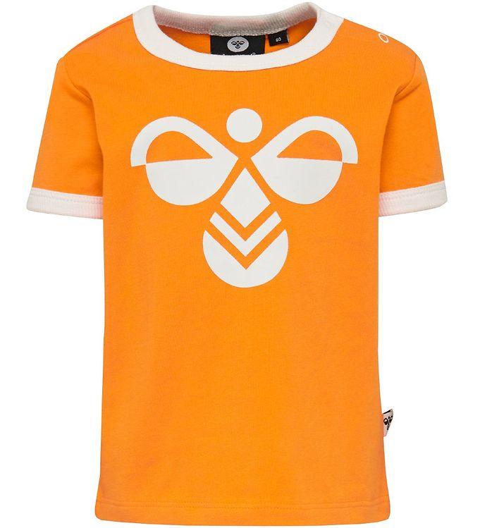 Hummel T-shirt - HMLHeaven - Orange - Drengetøj,Hummel SS20,Hummel T-shirt,Pigetøj,Unisex - Hummel