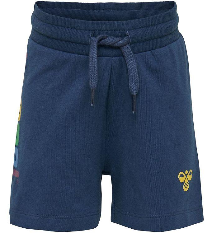 Hummel Shorts - HMLSky - Navy m. Logo - Drengetøj,Hummel Shorts,Hummel SS20,Pigetøj,Unisex - Hummel