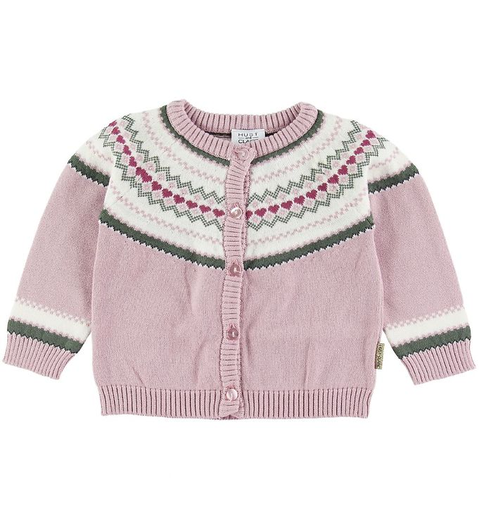 Image of Hust and Claire Cardigan - Charme - Rosa m. Mønster (SO331)