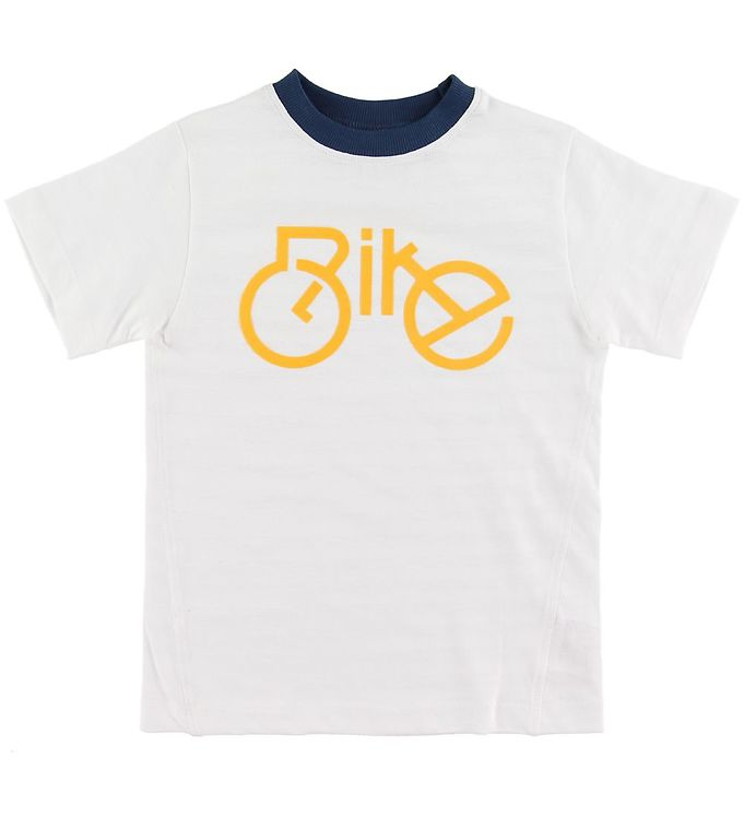 Image of Hust and Claire T-shirt - Alwin - Hvid m. Cykel (SO334)