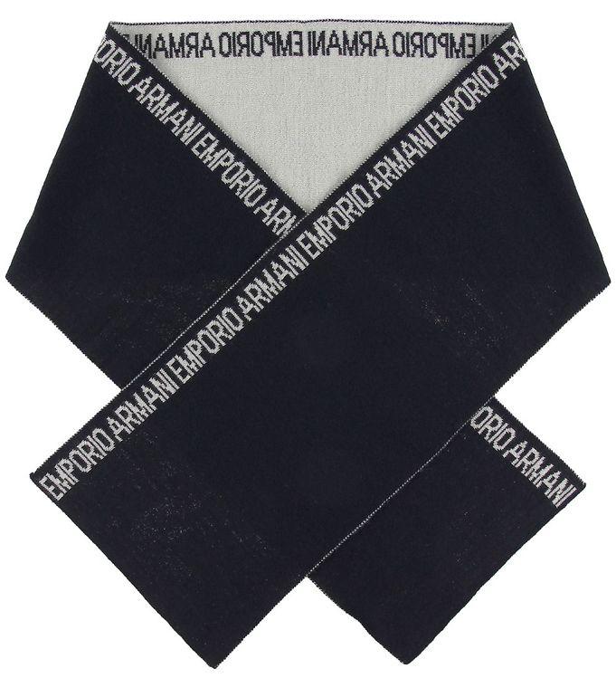 Billede af Emporio Armani Halstørklæde - 160x20 - Uld/Akryl - Navy