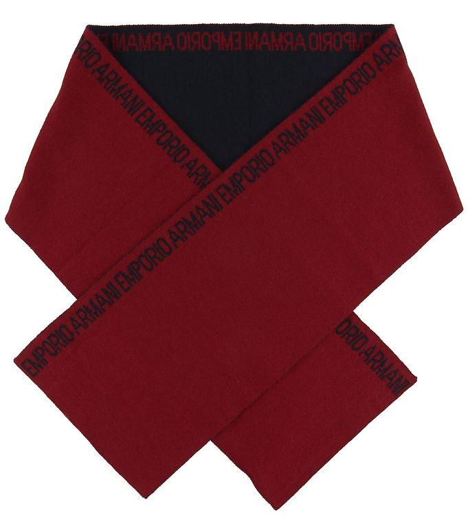 Billede af Emporio Armani Halstørklæde - 160x20 - Uld/Akryl - Mørk Rød