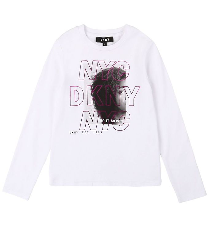 Image of DKNY Bluse - Junior D3 - Hvid m. Tryk (SQ229)