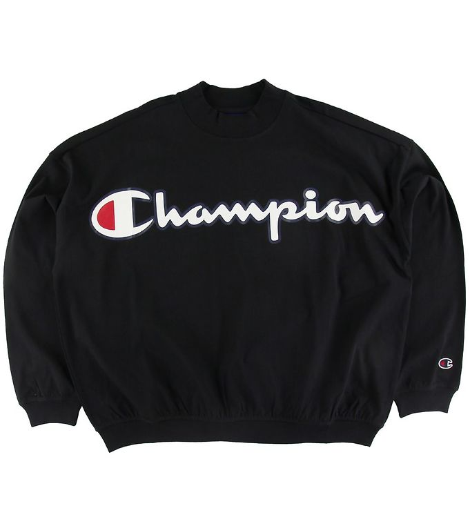 Image of Champion Fashion Bluse - Sort m. Logo (SQ299)