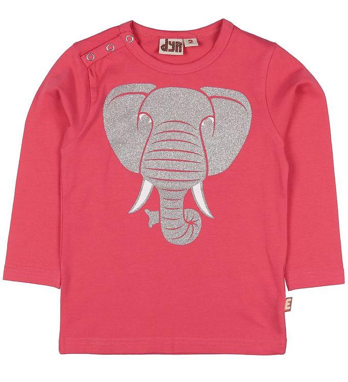 Image of DYR Bluse - Snarl - Pink m. Elefant (SQ772)