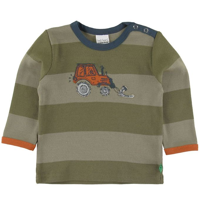 Image of Freds World Bluse - Tractor - Dream Moss m. Striber (SS064)