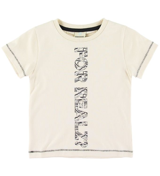 Image of En Fant T-shirt - Cream m. Tekst (SS523)