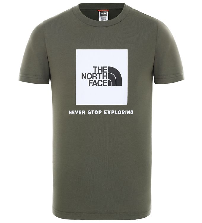 Image of The North Face T-shirt - Box - Grøn m. Logo (ST007)