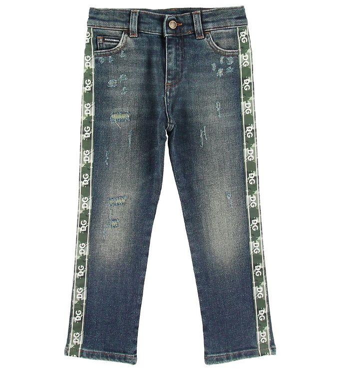 Image of Dolce & Gabbana Jeans - Blå m. Stribe (ST592)