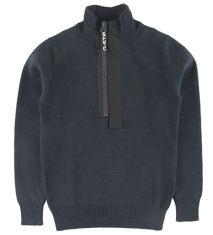 Image of G-Star RAW Bluse - Strik - Half-Zip - Mazarine Blue (ST771)