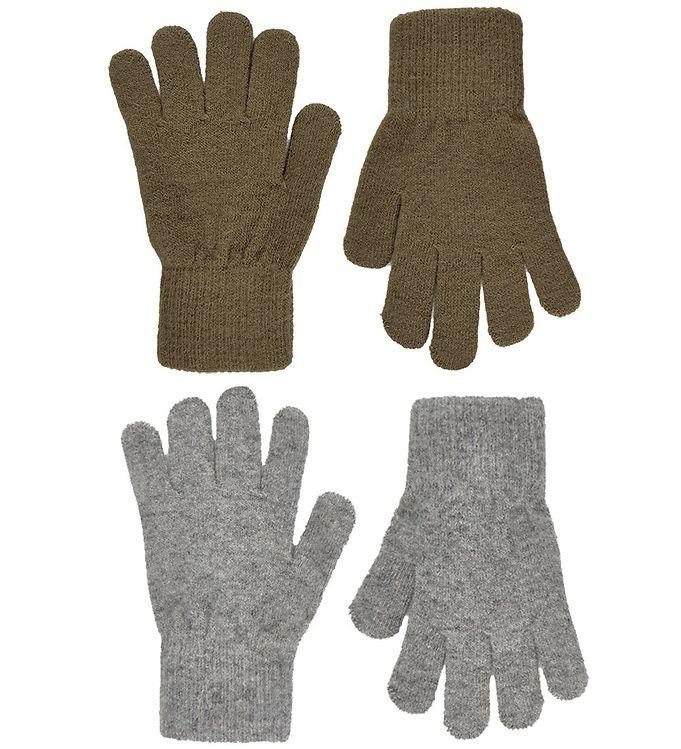 CeLaVi Handsker – Uld/Nylon – 2-pak – Military Olive/Gråmeleret