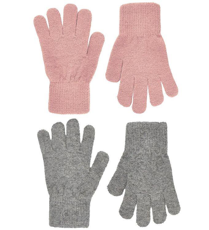 CeLaVi Handsker – Uld/Nylon – 2-pak – Mistey Rose/Gråmeleret