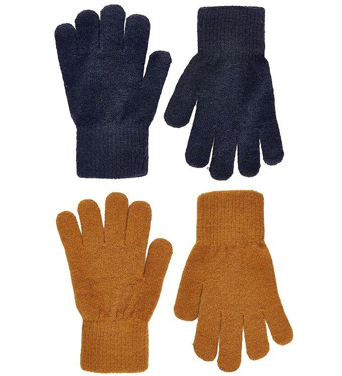 CeLaVi Handsker – Uld/Nylon – 2-pak – Pumpkin Spice/Navy