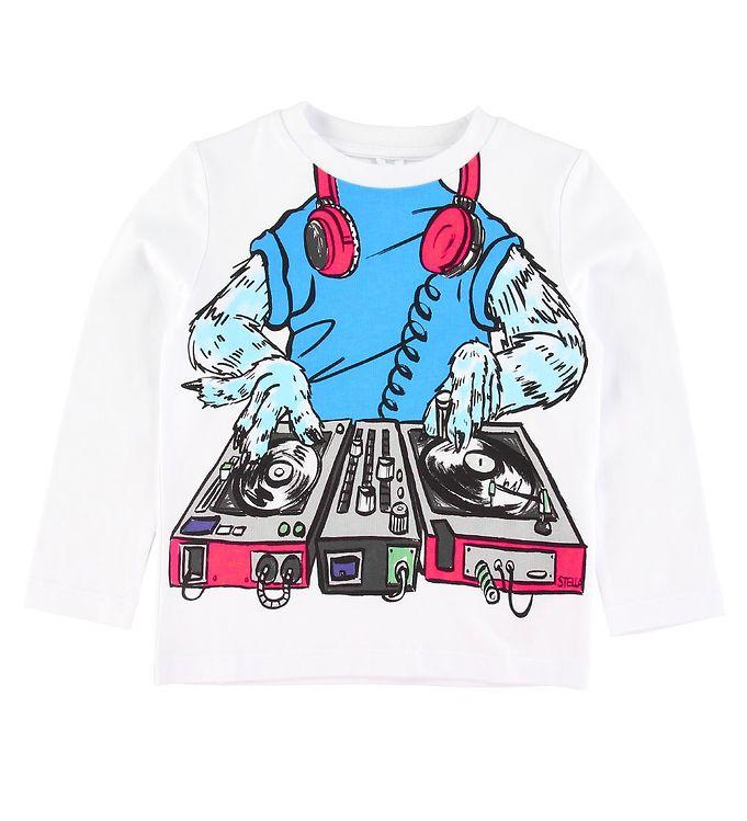 Image of Stella McCartney Kids Bluse - Monster DJ - Hvid (SV005)