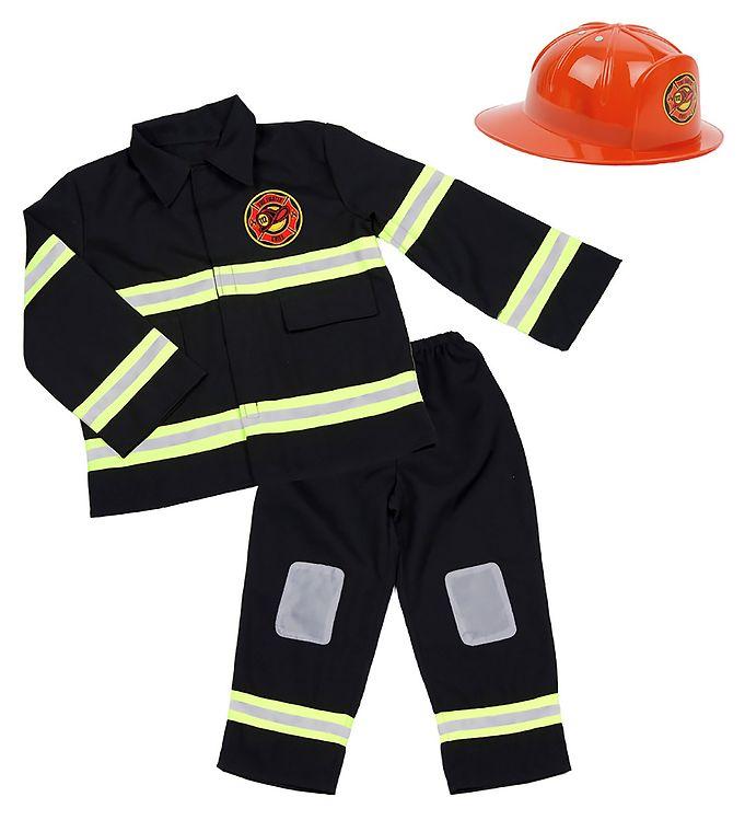 Image of Den Goda Fen Udklædning - Brandmandssæt - Sort (SV129)