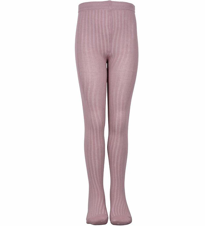 Melton Strømpebukser - Rib - Lavendel