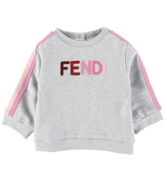 Image of Fendi Sweatshirt - Grå/Rosa (SV421)