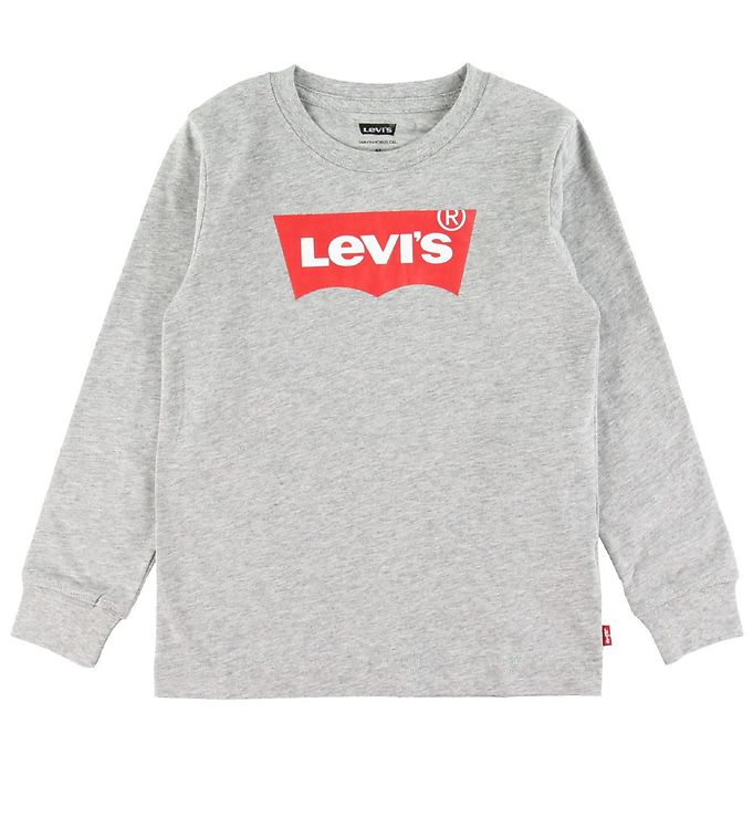 Image of Levis Bluse - Batwing - Grey Heather m. Logo (SV695)