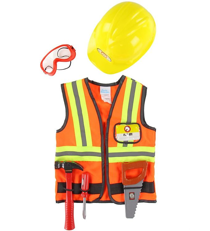 Image of Great Pretenders Udklædning - Bygningsarbejder - Orange (SV742)