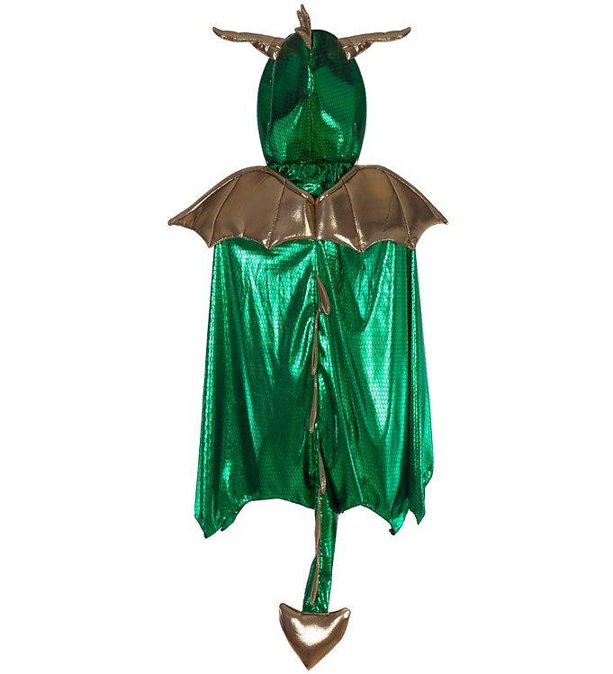 Image of Great Pretenders Udklædning - Drage - Grøn/Guld (SV803)