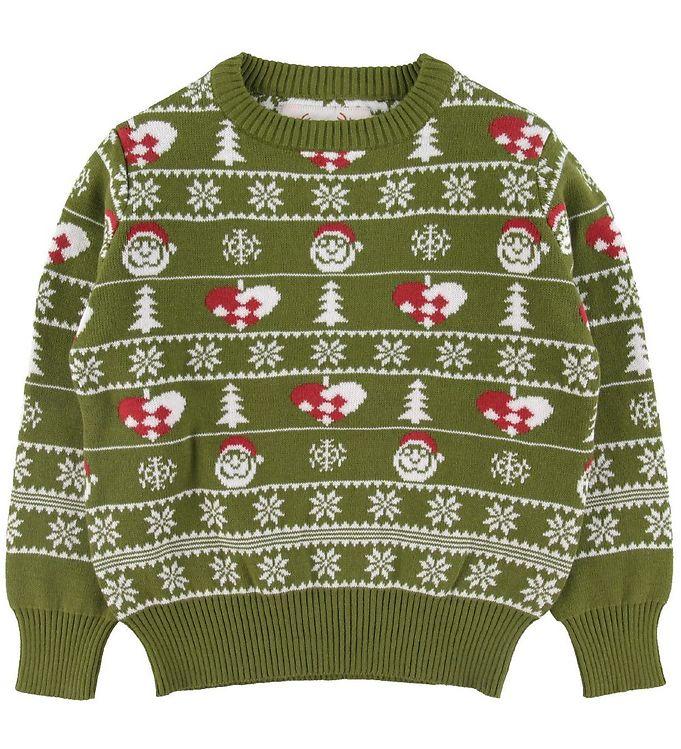 Image of Jule-Sweaters Bluse - Den Stilede Julesweater - Grøn (SX832)