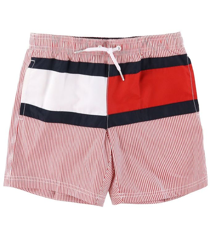 Image of Tommy Hilfiger Badeshorts - Primary Red Stripe (SY202)