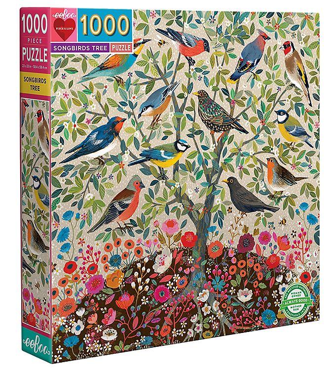 Image of Eeboo Puslespil - 1000 Brikker - Songbirds Tree (SY363)