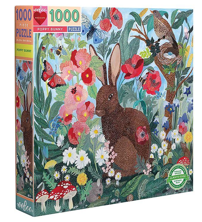 Image of Eeboo Puslespil - 1000 Brikker - Poppy Bunny (SY373)
