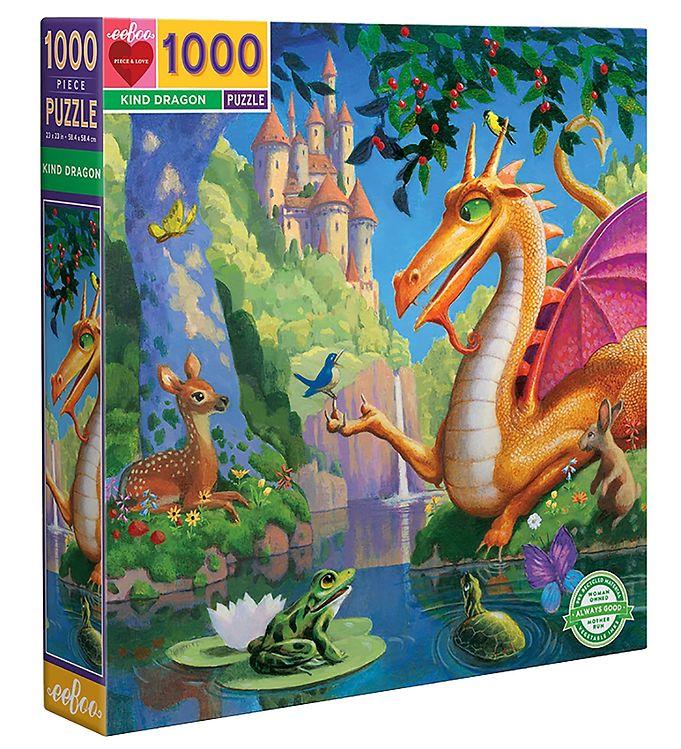 Image of Eeboo Puslespil - 1000 Brikker - Kind Dragon (SY374)