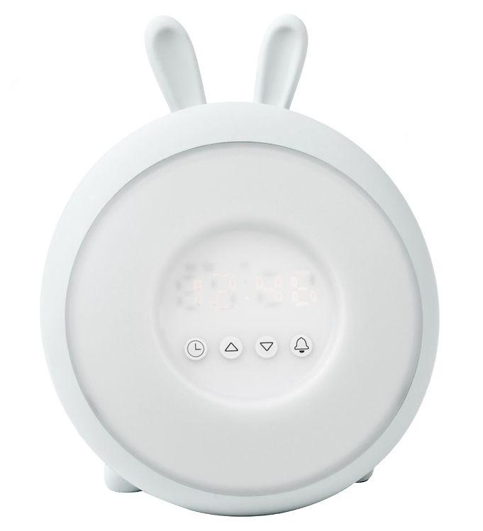 Image of Rabbit & Friends Vækkeur m. Lys - Wake Up - Hvid (SY426)