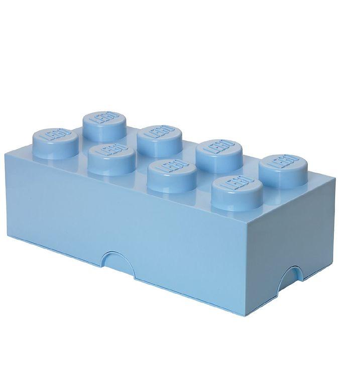 Image of   Lego Storage Opbevaringsboks - 8 Knopper - Lyseblå