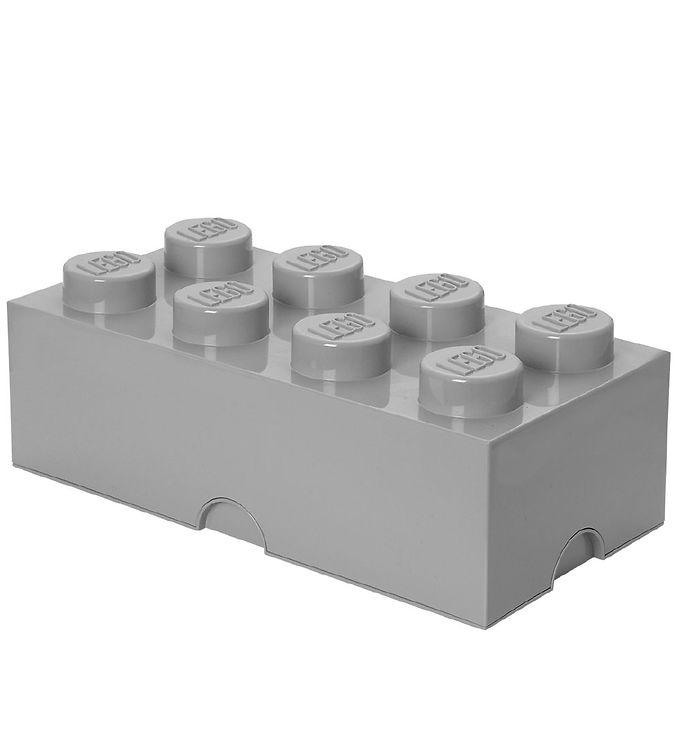 Image of   Lego Storage Opbevaringsboks - 8 Knopper - Lysegrå
